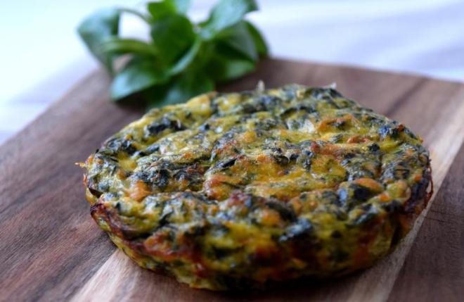 Ovnsbakt_omelett_med_spinat_og_ricotta_ost Frittata_di_spinaci_e_ricotta)